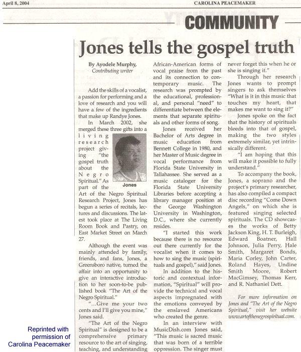 In the News – Randye Jones